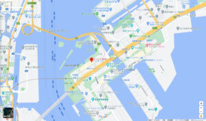 お台場デックス東京ビーチの6F屋上です。